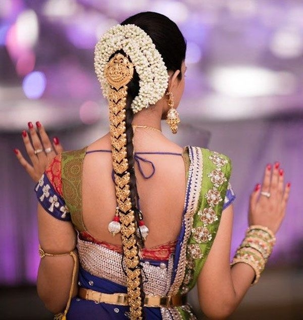 South Indian Bride Hairstyle – Google Search | Rings Dress And More With Regard To Indian Wedding Hairstyles For Long Hair On Saree (View 12 of 15)