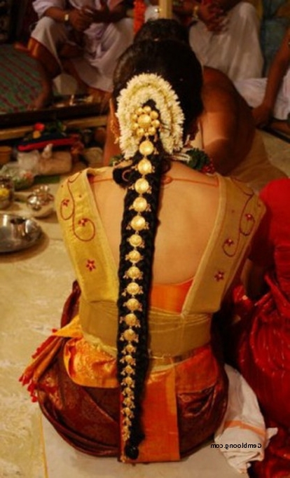 South Indian Hairstyles For Long Hair For Wedding Elegant South In South Indian Wedding Hairstyles For Medium Length Hair (View 9 of 15)