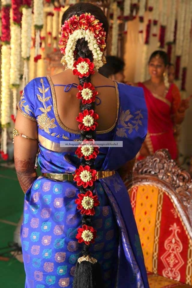 South Indian Wedding Hair Styles For Long Hair ~ Latest Indian Throughout South Indian Wedding Hairstyles For Long Hair (View 8 of 15)