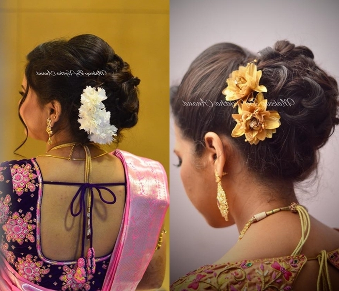 South Indian Wedding Hairstyles: 13 Amazing Ideas! • Keep Me Stylish With Indian Bun Wedding Hairstyles (View 13 of 15)