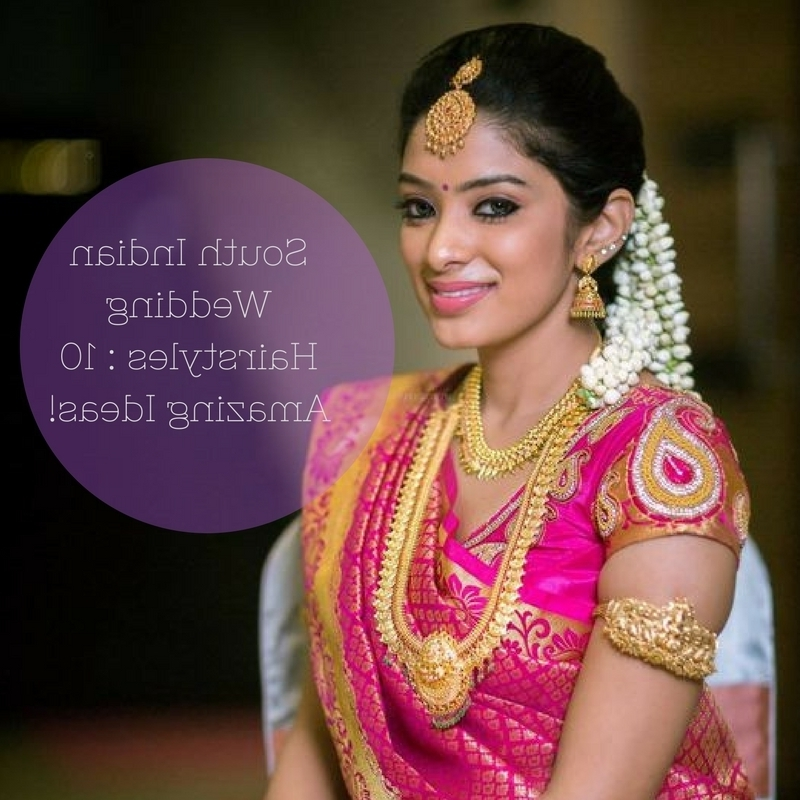 South Indian Wedding Hairstyles: 13 Amazing Ideas! • Keep Me Stylish With Indian Wedding Hairstyles (View 11 of 15)