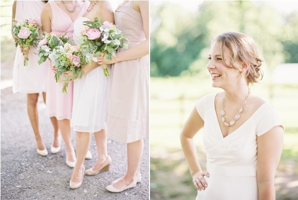 Spring Garden Wedding Hairstyles For Long Hair Pink Bridesmaid Intended For Garden Wedding Hairstyles For Bridesmaids (View 2 of 15)
