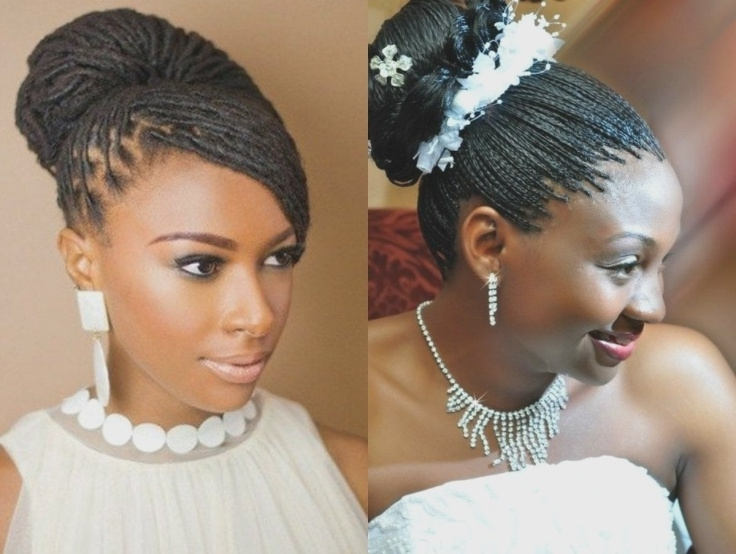Spring Season Box Braids Wedding Hairstyles 2017 | High Bun | Black For Box Braids Wedding Hairstyles (View 13 of 15)