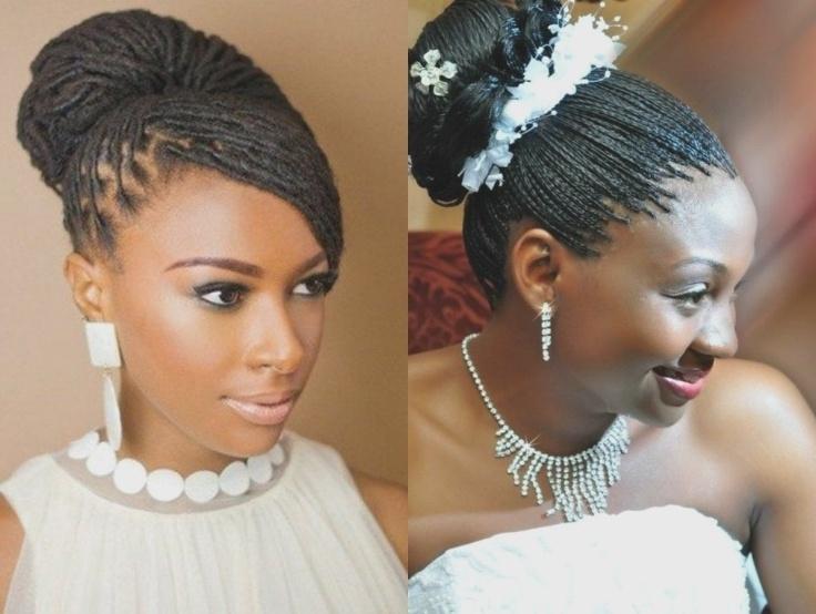 Spring Season Box Braids Wedding Hairstyles 2017 | High Bun | Black For Box Braids Wedding Hairstyles (View 4 of 15)