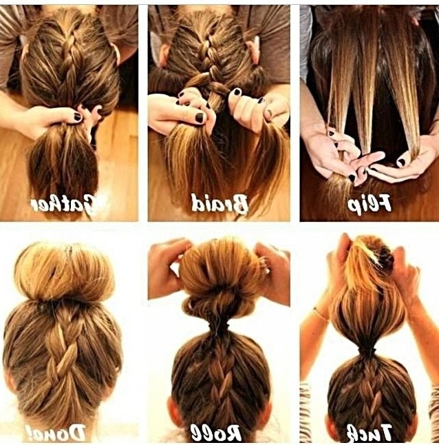 Stepstep Braided Bun   Hair Style, Makeup And Hair And Beauty Within Quick And Easy Wedding Hairstyles For Long Hair (View 12 of 15)