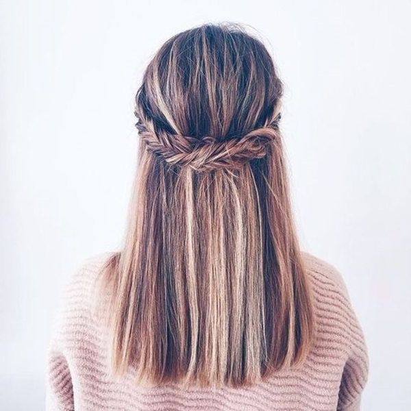 Straight Wedding Hair Inspirations For Your Big Day | Pinterest In Wedding Hairstyles For Straight Mid Length Hair (View 2 of 15)