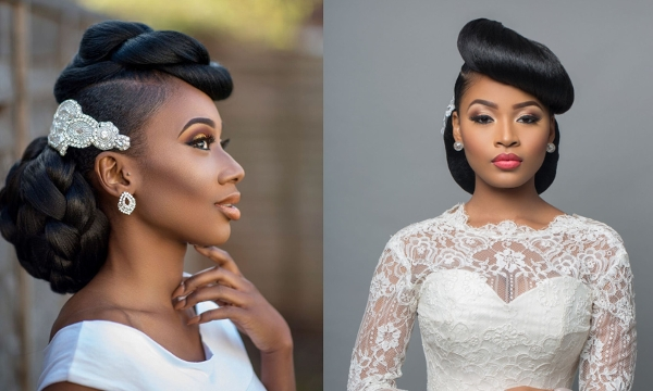 Stunning Hairstyles For Brides To Be – The Lagos Stylist For Wedding Hairstyles For Nigerian Brides (View 10 of 15)