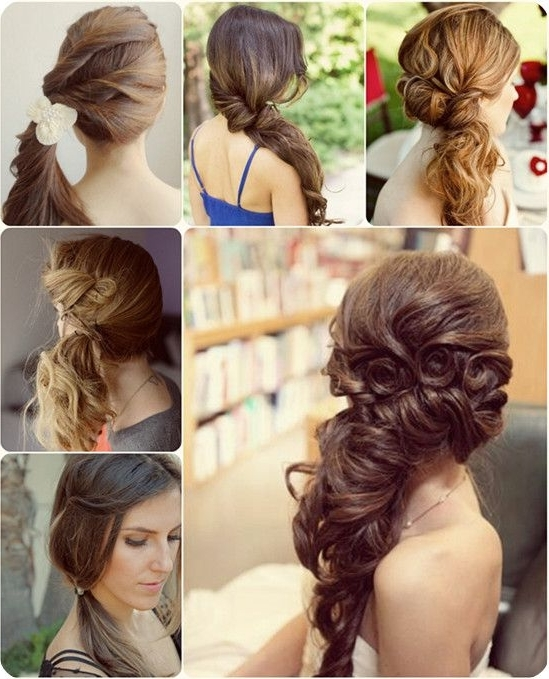 Stunning Side Ponytail Wedding Hairstyles Contemporary – Styles Inside Wedding Hairstyles For Medium Length Hair With Side Ponytail (View 5 of 15)