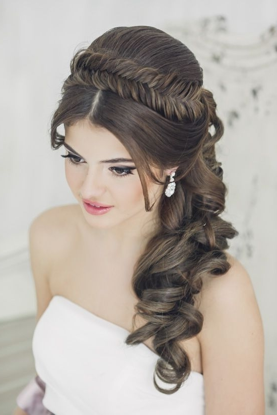 Stunning Wedding Hairstyles With Braids For Amazing Look In Your Big Inside Wedding Hairstyles For Long Hair With Headband (View 14 of 15)