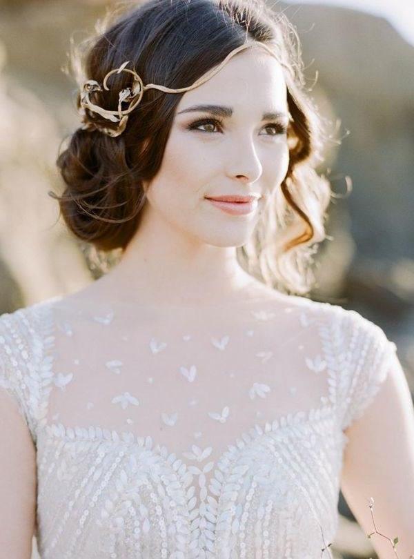Style Ideas: 21 Modern Wedding Hairstyles – Modwedding With Modern Wedding Hairstyles (View 11 of 15)