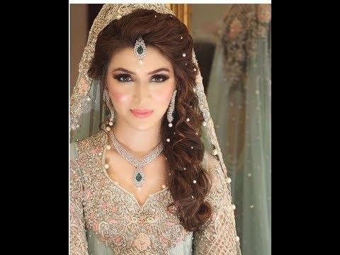 Stylish And Trendy Pakistani Bridal Wedding Hairstyles For Special Inside Bridal Wedding Hairstyles (View 14 of 15)