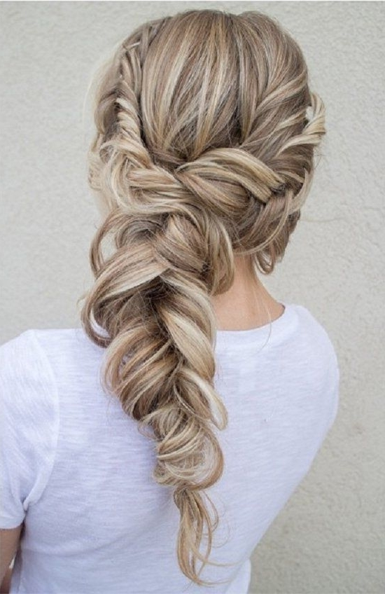 Summertime Braids The Blowout Alternative | Hair & Co Bklyn Pertaining To Fishtail Braid Wedding Hairstyles (View 14 of 15)