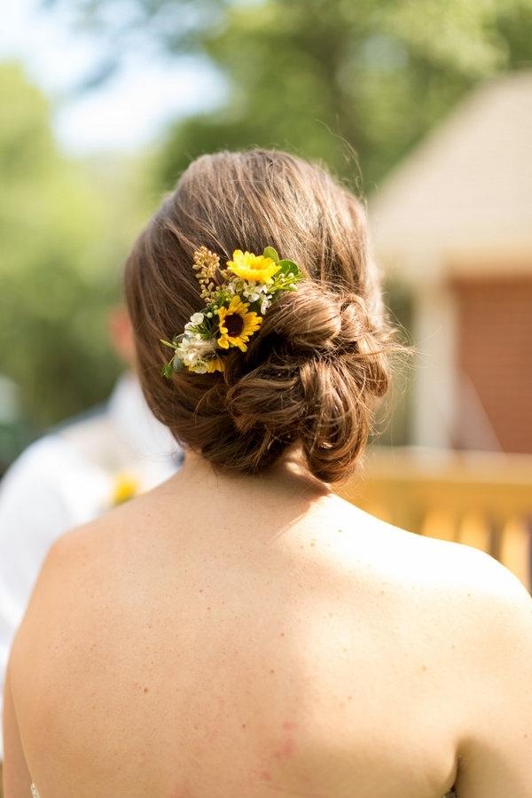 Sunflower Hair Accessories Wedding | Wrsnh With Wedding Hairstyles With Sunflowers (View 14 of 15)