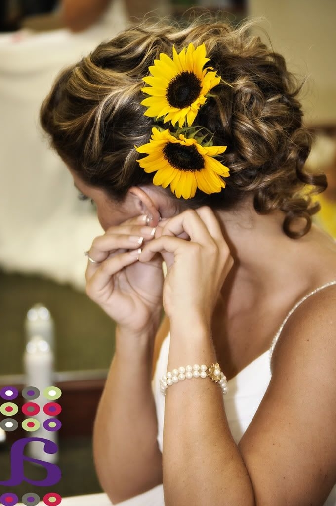 Sunflowers In Your Hair? Have You Considered An Awesome Floral Head Intended For Wedding Hairstyles With Sunflowers (View 2 of 15)