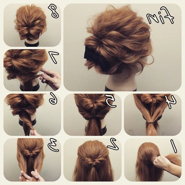 Super Easy But So Cute Def Gonna Try This For Formal Easy Updos For Regarding Easy Wedding Hairstyles For Long Thick Hair (View 14 of 15)