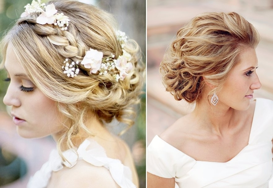 Sweet Bridal Updos Romantic Wedding Hairstyles Blond Brides Intended For Romantic Wedding Hairstyles (View 8 of 15)