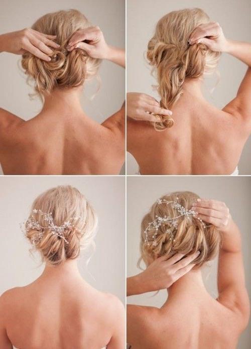 Tender And Feminine Diy Bridal Hairstyle | Weddingomania | Wed In Easy Bridal Hairstyles For Short Hair (View 13 of 15)