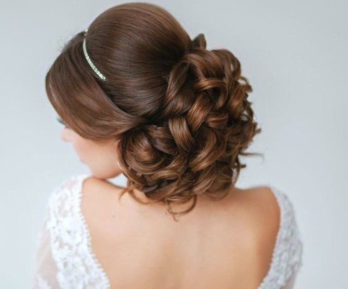 The 120 Best Wedding Bridal Hairstyles Images On Pinterest For Easy Wedding Hairstyles For Medium Length Hair (View 15 of 15)