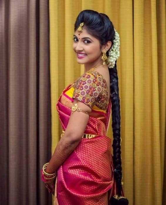 The 171 Best Bridal Hair Images On Pinterest | Bridal Hairstyles Inside South Indian Wedding Hairstyles For Medium Length Hair (View 2 of 15)