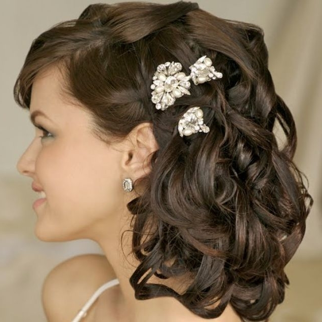 The 7 Best Wedding Day Hair Ideas Images On Pinterest | Bridal In Indian Wedding Hairstyles For Short And Thin Hair (View 7 of 15)