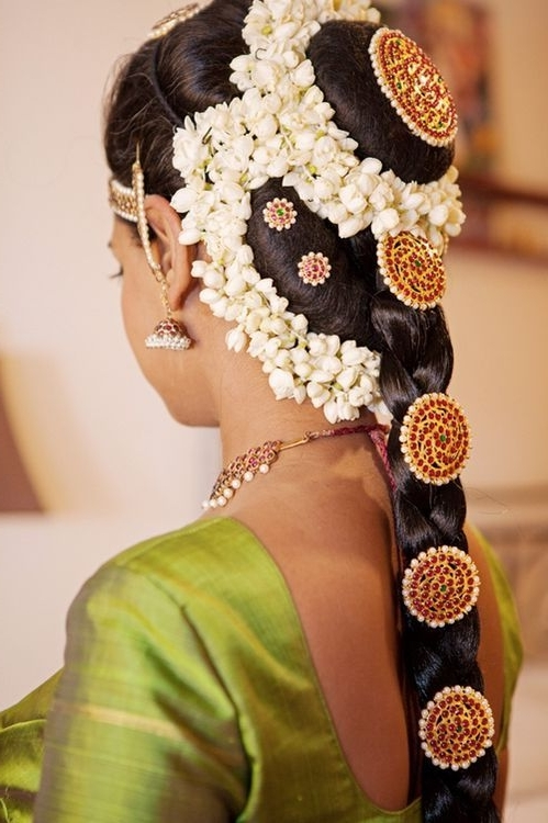 The 79 Best South Indian Bridal Hairstyle Images On Pinterest Within South Indian Wedding Hairstyles For Long Hair (View 11 of 15)