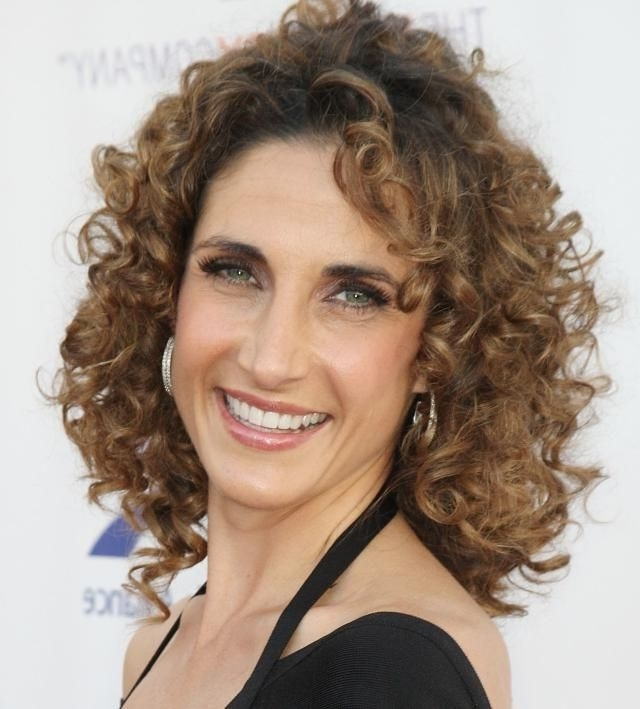 The Best Curly Hairstyles For Women Over 50 | Pinterest | Curly With Regard To Wedding Hairstyles For 50 Year Olds (View 3 of 15)