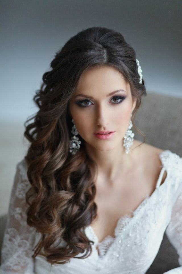The Hairstyles Hairstyles Long Hair Pinned Bridal Hairstyles Put To Pertaining To Wedding Hairstyles For Long Hair Pulled To The Side (View 10 of 15)