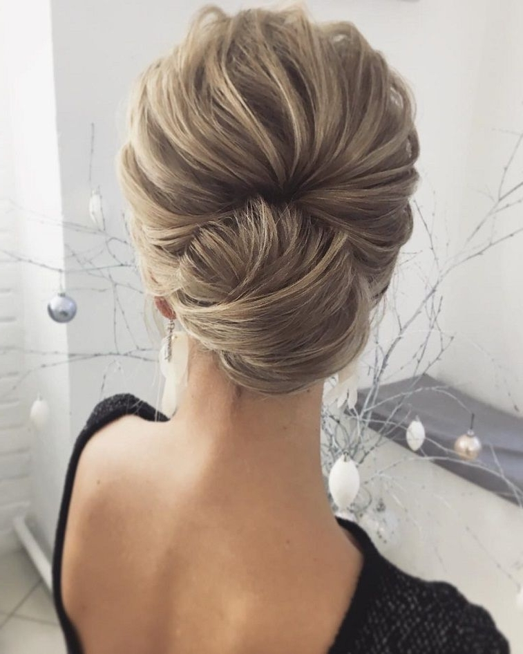 The Most Romantic Bridal Updos Wedding Hairstyles | Hair Wedding With Regard To Medium Length Updo Wedding Hairstyles (View 13 of 15)