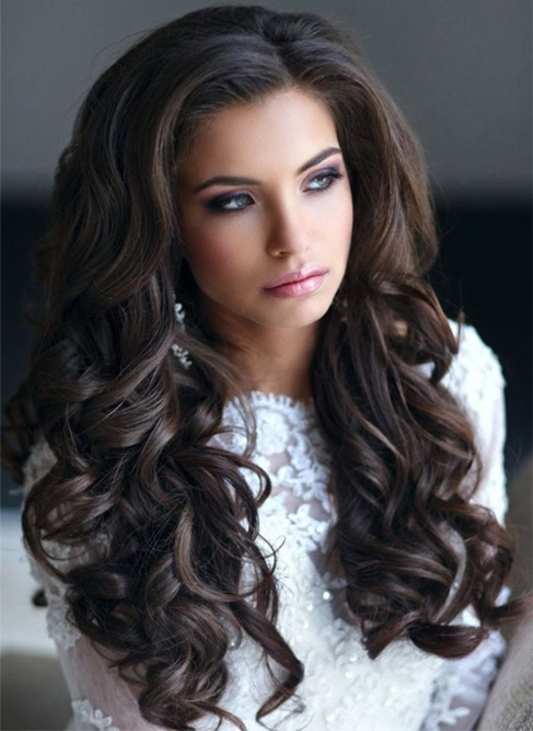 Thick Long Wavy Wedding Hairstyles 2015 – 2016 | Styles Time With Wedding Hairstyles For Long Wavy Hair (View 13 of 15)