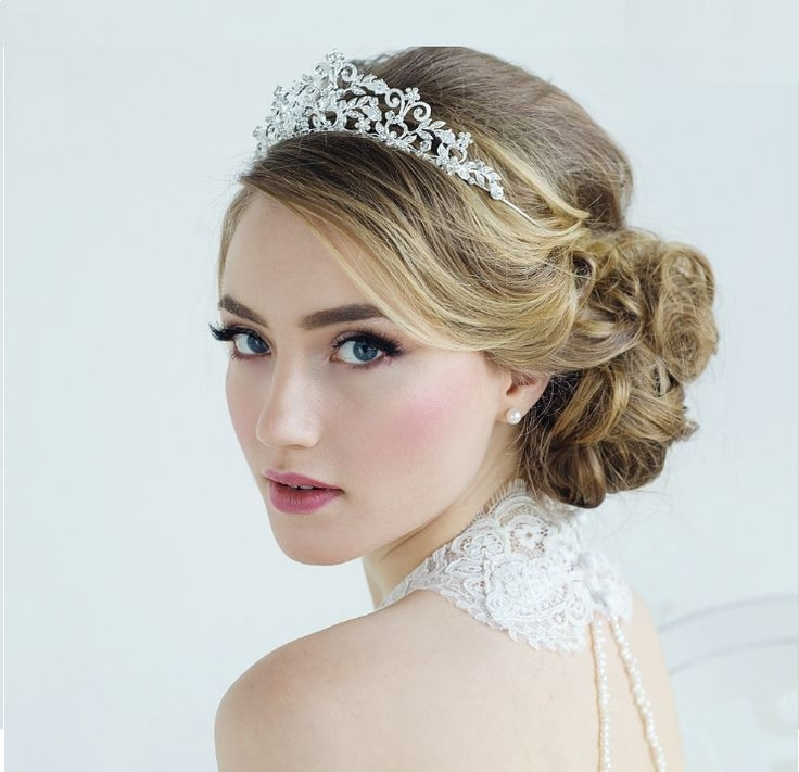 Tiara Hairstyles Fresh The 25 Best Bridal Hair Tiara Ideas On Intended For Wedding Hairstyles With Crown (View 12 of 15)