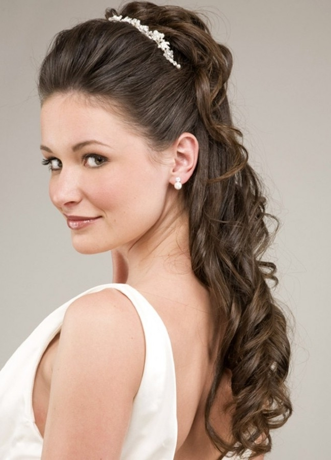 Tiara Hairstyles Inspirational Long Blonde Wedding Hairstyle With Within Wedding Hairstyles With Tiara (View 8 of 15)