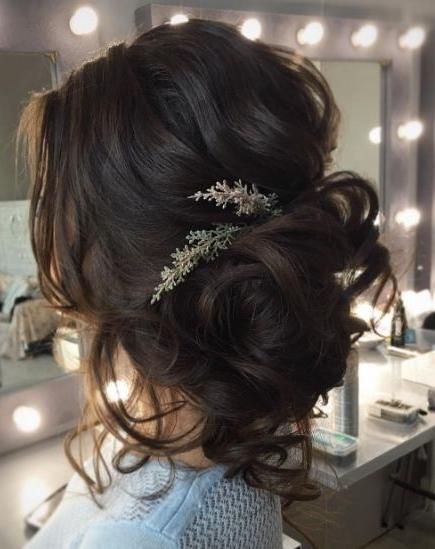 Tonya Pushkareva Wedding Hairstyle Inspiration | Inspiration With Regard To Brunette Wedding Hairstyles (View 14 of 15)