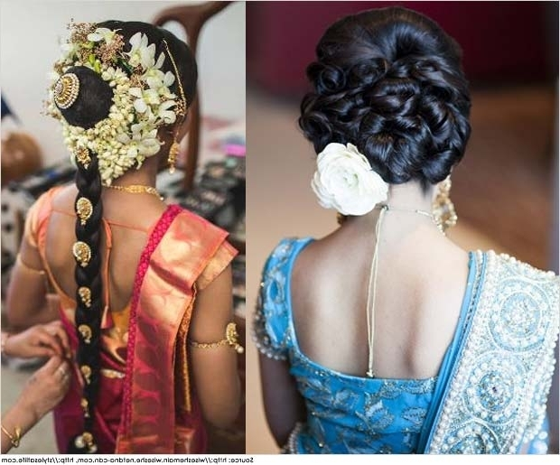 Top 10 Indian Wedding Hairstyles For Sarees Intended For South Indian Wedding Hairstyles For Long Hair (View 13 of 15)