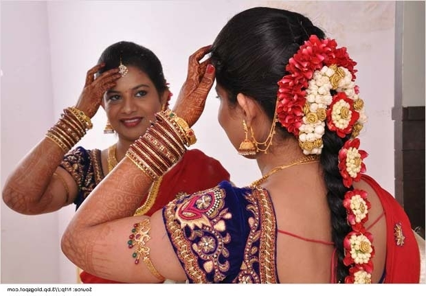 Top 10 Indian Wedding Hairstyles For Sarees Intended For Traditional Wedding Hairstyles (View 9 of 15)