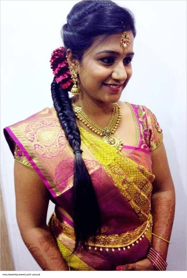 Top 10 Indian Wedding Hairstyles For Sarees With Regard To Hindu Bride Wedding Hairstyles (View 10 of 15)