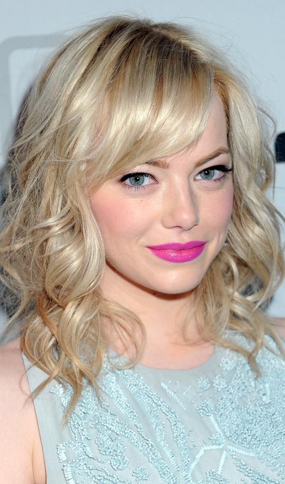 Top 10 Layered Hairstyles For Shoulder Length Hair With Regard To Wedding Hairstyles For Medium Length Hair With Bangs (View 12 of 15)