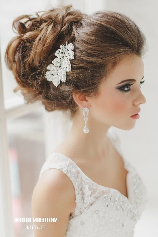 Top 20 Bridal Headpieces For Your Wedding Hairstyles In Wedding Hairstyles With Headpiece (View 10 of 15)
