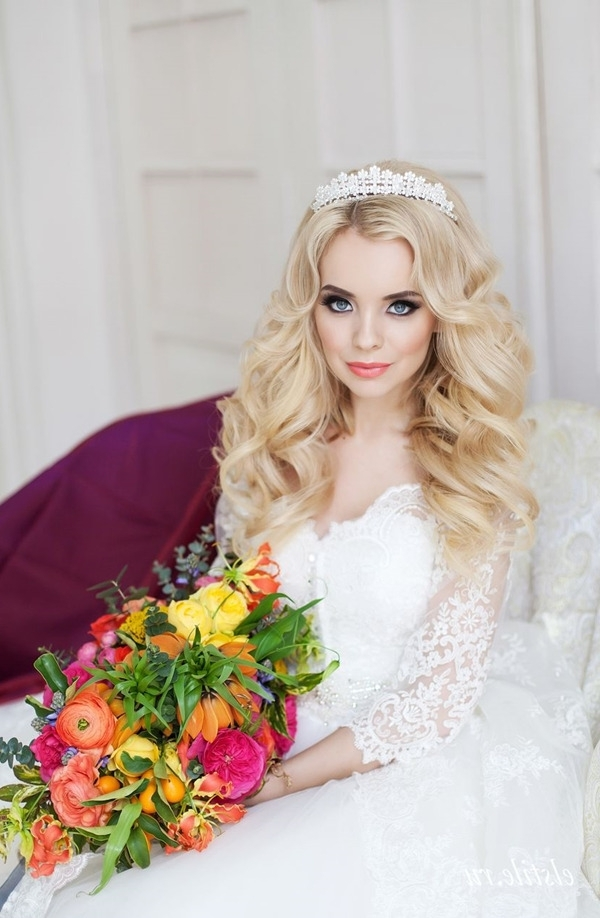 Top 20 Bridal Headpieces For Your Wedding Hairstyles Inside Wedding Hairstyles For Long Hair With Crown (View 11 of 15)