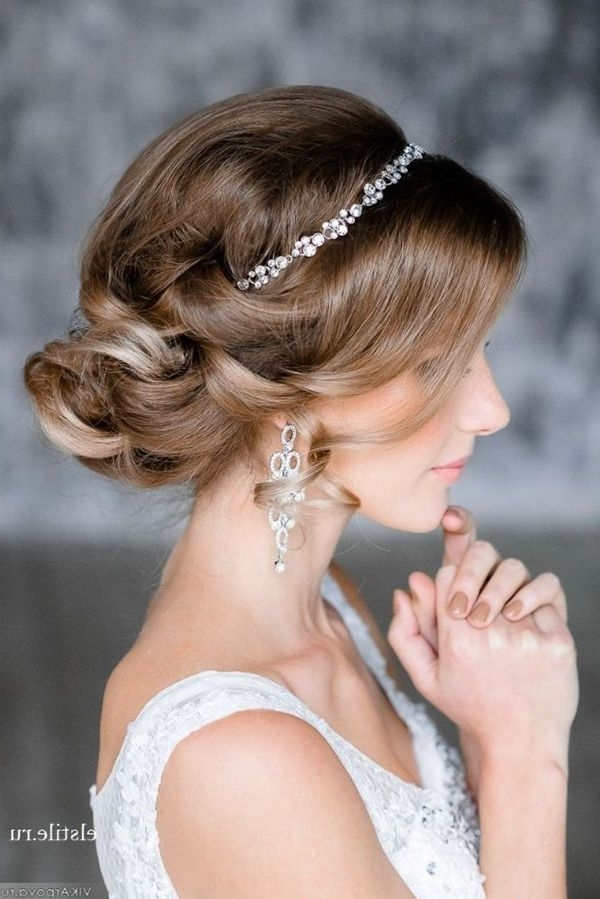 Top 20 Bridal Headpieces For Your Wedding Hairstyles | Pinterest Regarding Wedding Hairstyles With Headpiece (View 8 of 15)