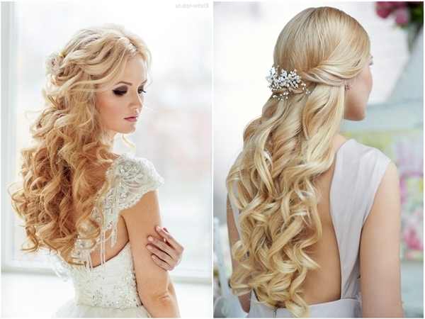 Top 20 Down Wedding Hairstyles For Long Hair | Deer Pearl Flowers In Wedding Hairstyles For Long Hair With Flowers (View 7 of 15)
