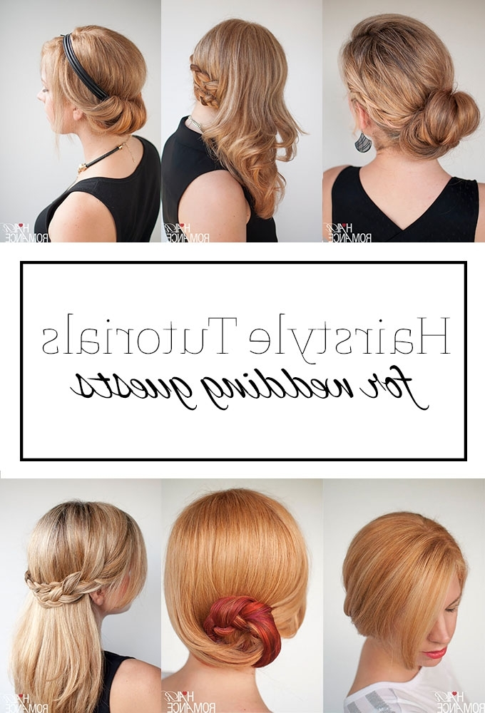 Top 5 Hairstyle Tutorials For Wedding Guests – Hair Romance Regarding Easy Wedding Hair For Bridesmaids (View 14 of 15)