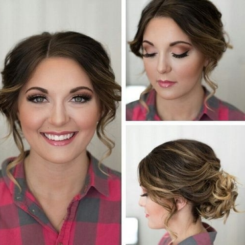 Top 60 Flattering Hairstyles For Round Faces | Pinterest | Updo Inside Wedding Hairstyles For Round Face With Medium Length Hair (View 12 of 15)