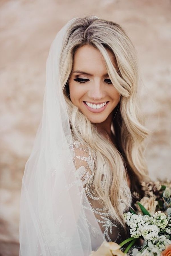 Top 8 Wedding Hairstyles For Bridal Veils Regarding Bride Hairstyles For Long Hair With Veil (View 11 of 15)