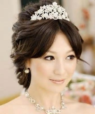 Top Asian Hairstyles And Haircuts: Korean Bridal Wedding Hairstyles With Japanese Wedding Hairstyles (View 8 of 15)