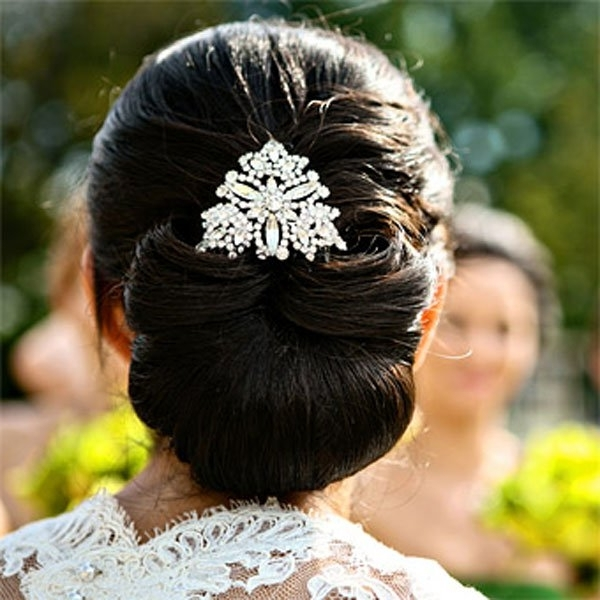 Top Bridal Updo Hairstyles In Christian Bridal Hairstyles For Short Hair (View 10 of 15)