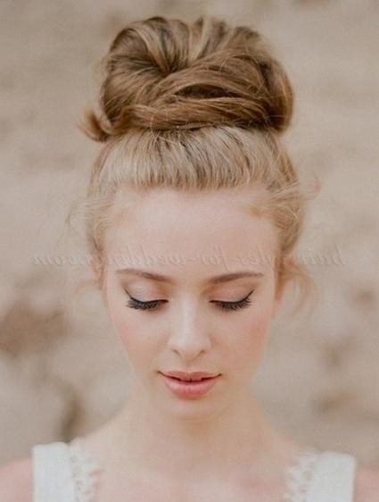 Top Bun Wedding Hairstyles – High Bun Hairstyle For Weddings For High Bun Wedding Hairstyles (View 11 of 15)