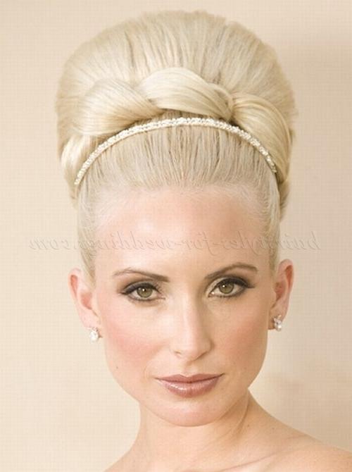 Top Bun Wedding Hairstyles – High Bun Hairstyle | Hairstyles For In High Bun Wedding Hairstyles (View 6 of 15)