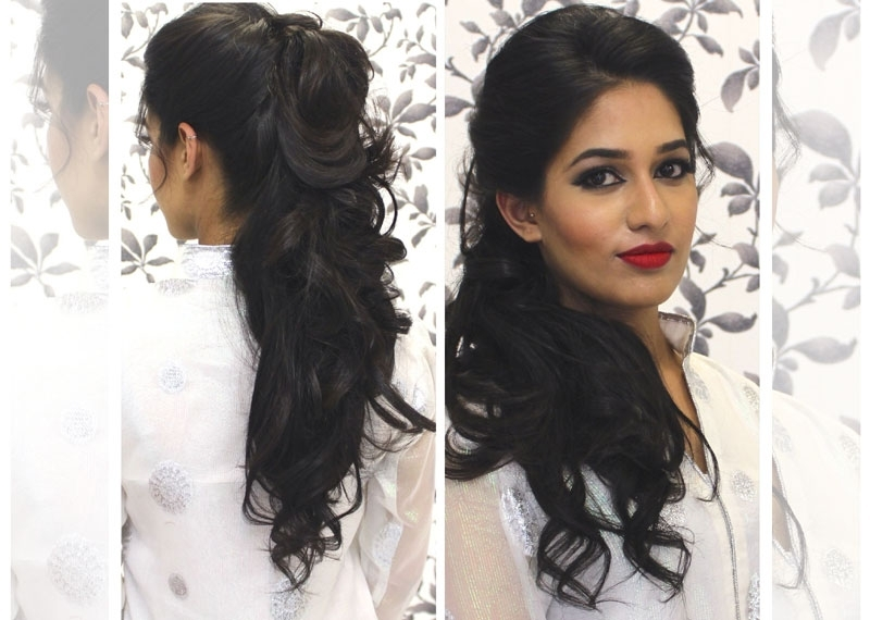 Top Wedding Reception Hairstyles With 5 Best Indian Bridal With Regard To Indian Wedding Reception Hairstyles For Long Hair (View 15 of 15)