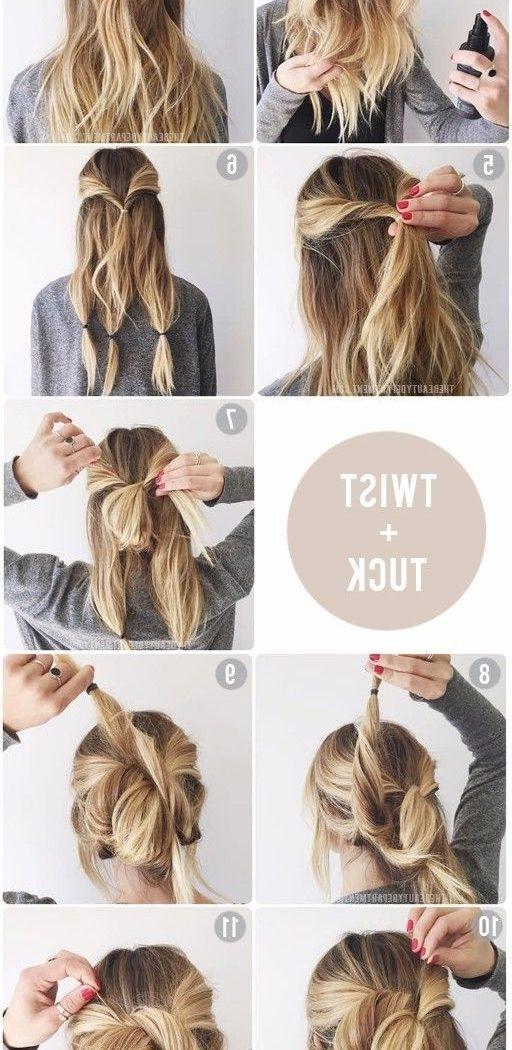 Trending Easy Updo Ideas On Pinterest Imposing Diy Updos For Medium Inside Easy Wedding Hairstyles For Medium Length Hair (View 12 of 15)