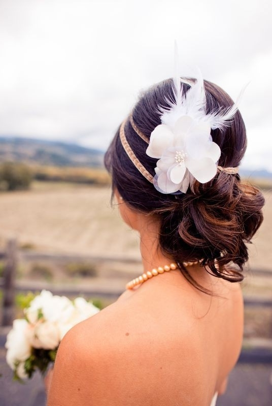Unique Wedding Hair Ideas ? Rustic Wedding Hairstyle #804058 – Weddbook Inside Rustic Wedding Hairstyles (View 9 of 15)
